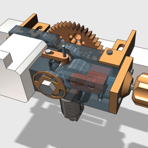 Capture d'écran 2018-04-10 à 16.13.45.png Download free STL file Geared Extruder using M8 extruder driver • 3D printable template, Job