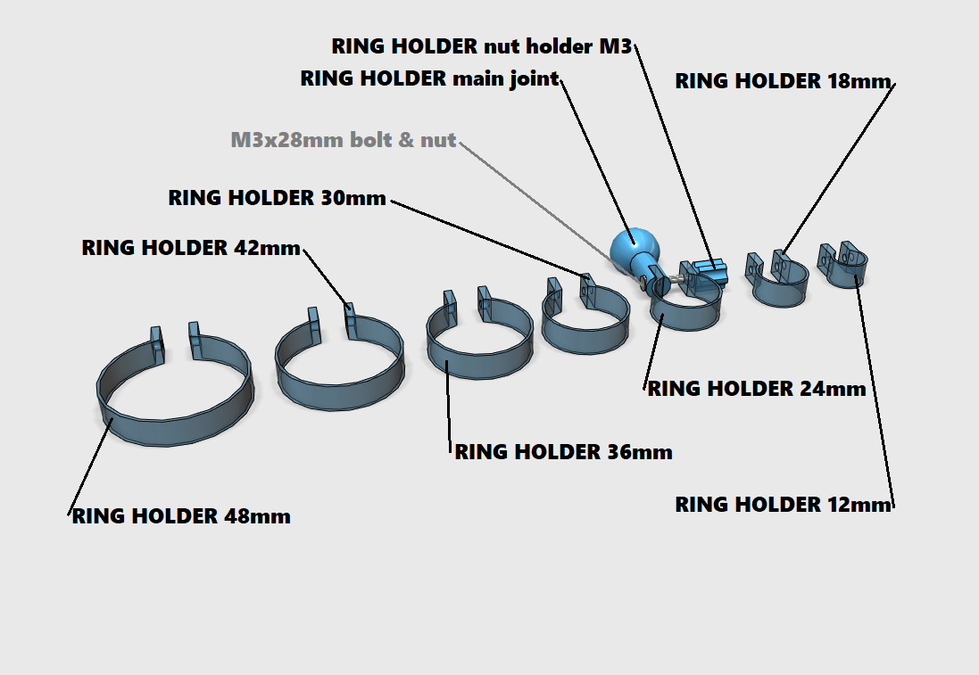 ring holder.png Télécharger fichier STL Bras universel • Design pour imprimante 3D, Job