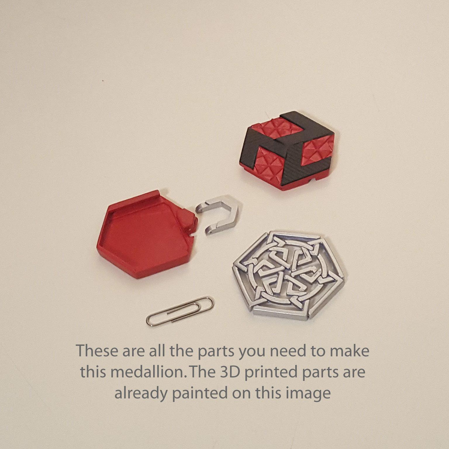 medallion parts and assembly1.jpg Download free STL file Secret geometry medallion • 3D printable model, Job