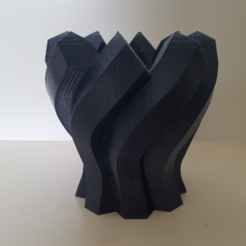 Free 3d printer designs  Twisted Hexagon Colum pot/vase, Job