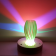 Free 3D printer model Wave Carved lamp, Job