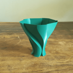Capture d'écran 2018-05-15 à 09.45.14.png Download free STL file Unfolding Leave Vase • 3D print template, Job
