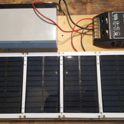Free Solar Panel Holder STL file, Job