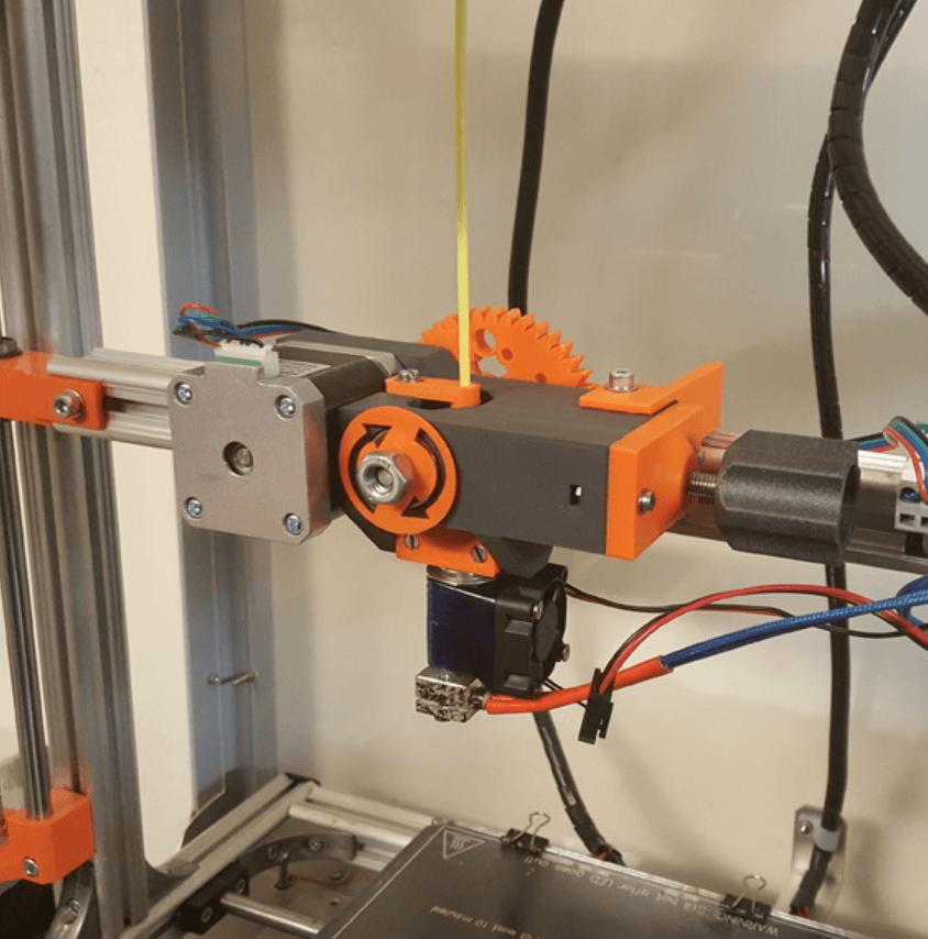 Capture d'écran 2018-04-10 à 16.14.00.png Télécharger fichier STL gratuit Extrudeuse à engrenages utilisant le pilote d'extrudeuse M8 • Plan pour imprimante 3D, Job