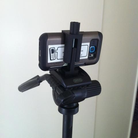 Capture d'écran 2017-09-12 à 15.36.27.png Download free STL file Universal Smartphone Bracket for camera stand • 3D printing template, Job