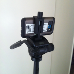 Download free 3D printing files Universal Smartphone Bracket for camera stand, Job