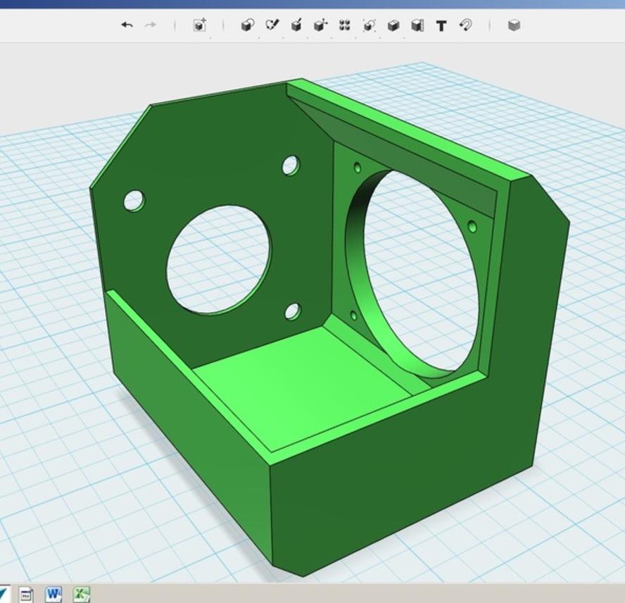 Capture d'écran 2017-05-29 à 12.07.29.png Download free STL file Nema 17 fan bracket K8200 Extruder • 3D printable object, Job
