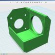 Impresiones 3D gratis Soporte de ventilador Nema 17 K8200 Extrusor, Job