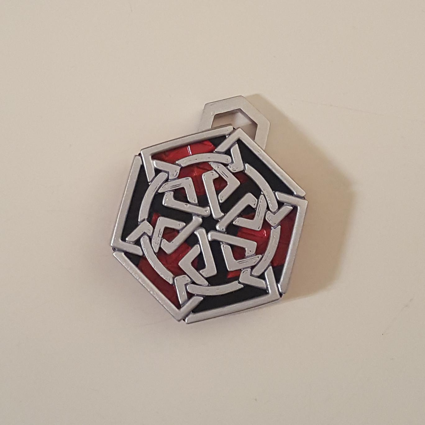 medallion top view.jpg Download free STL file Secret geometry medallion • 3D printable model, Job