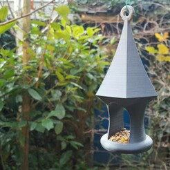 One part Bird feeder1.jpg Download free STL file Bird Feeder in one print • Template to 3D print, Job