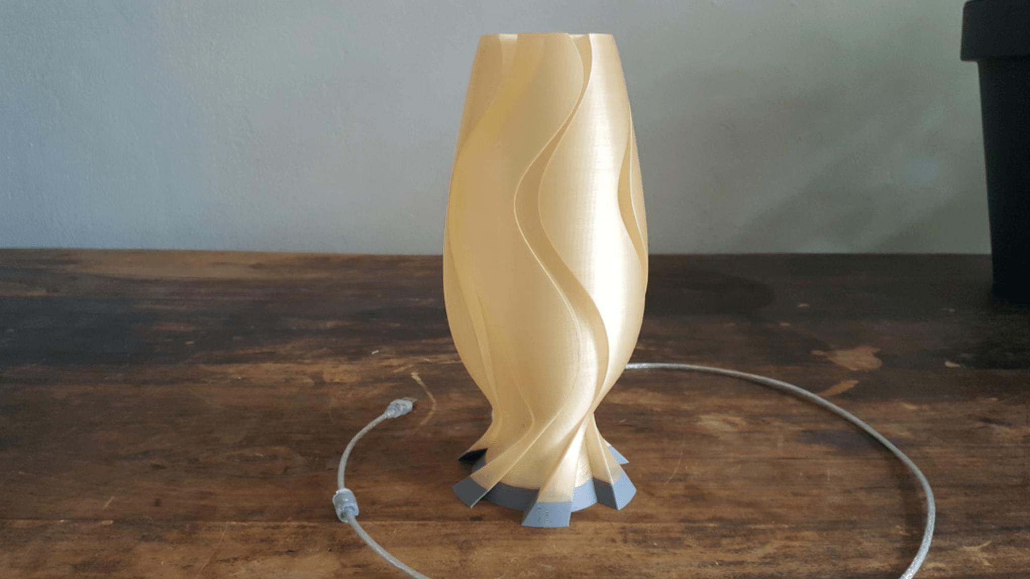 Capture d'écran 2018-05-21 à 15.49.47.png Download free STL file Golden Wave Lamp • 3D printing model, Job