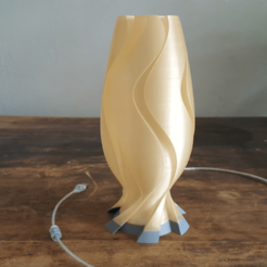 Free 3D printer file Golden Wave Lamp, Job