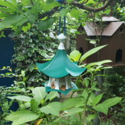 Free stl file Little Bird Feeder Air Temple, Job