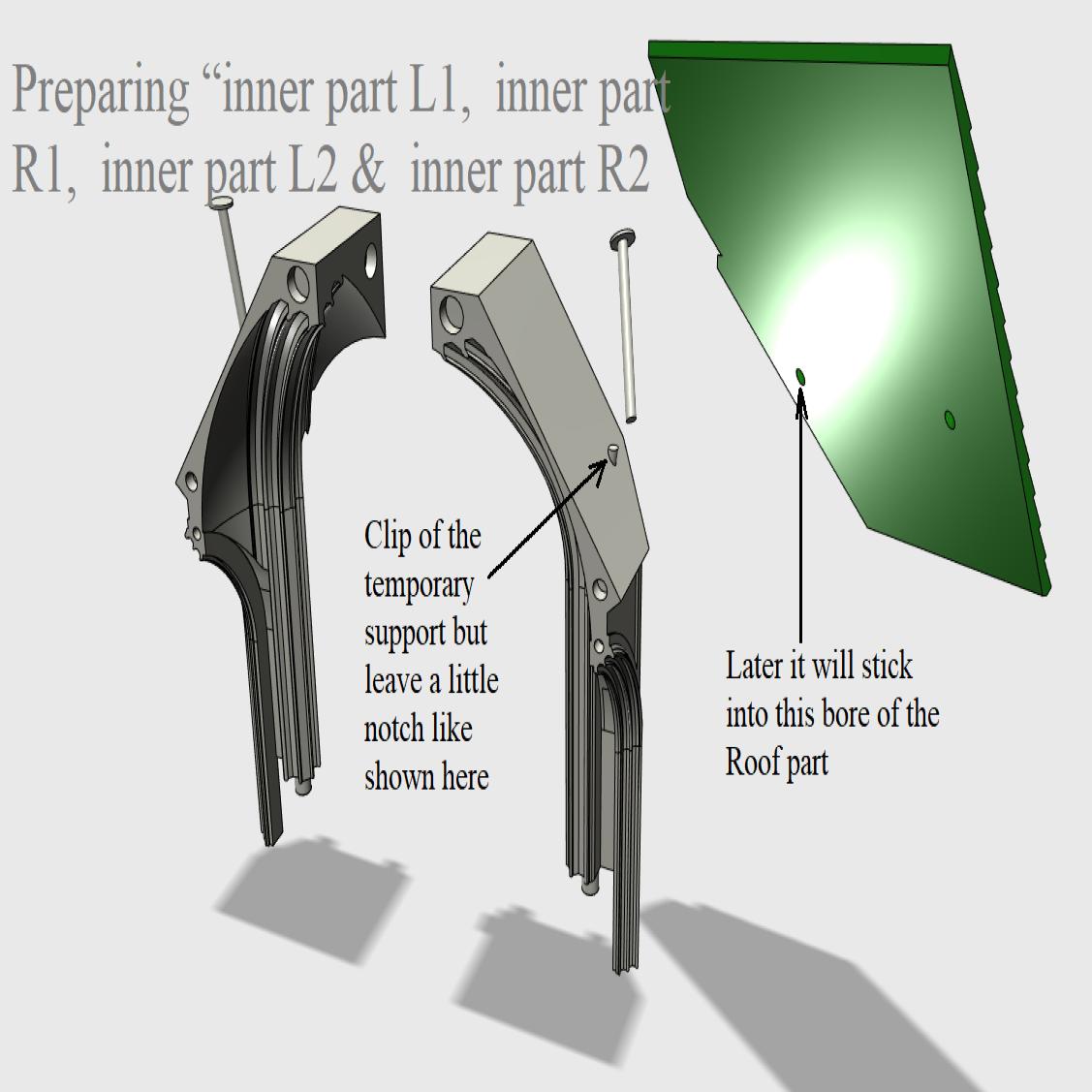 """02 Preparing """"inner part L1,  inner part R1,  inner part L2,  inner part R2.png Télécharger fichier STL Cathédrale des oiseaux • Objet imprimable en 3D, Job"""