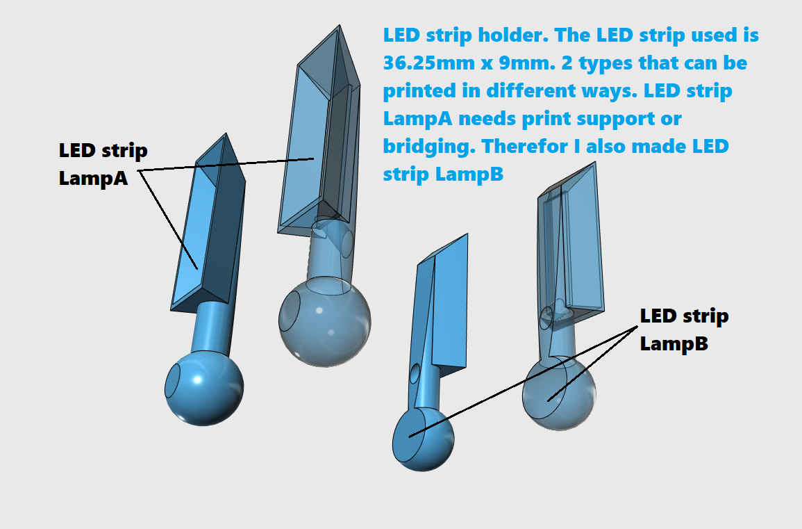 LED strip lamps.png Télécharger fichier STL Bras universel • Design pour imprimante 3D, Job