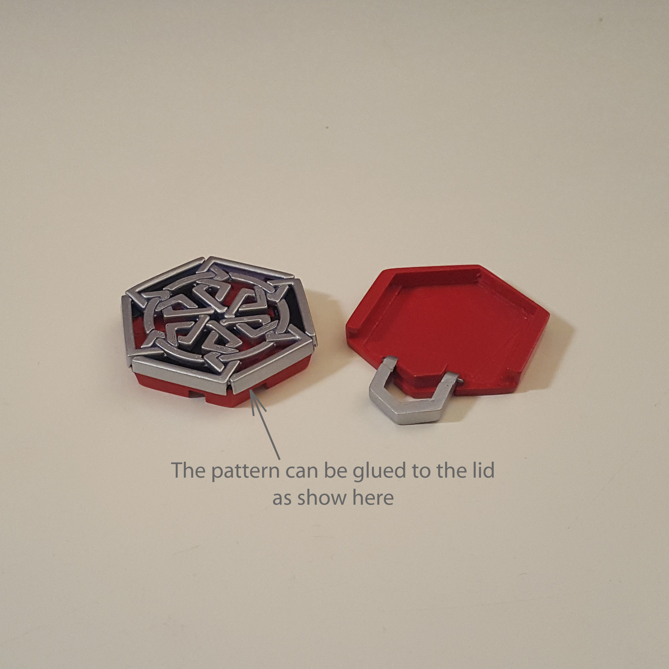 medallion parts and assembly4.jpg Download free STL file Secret geometry medallion • 3D printable model, Job