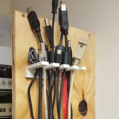 Archivos 3D gratis Organizador de cables, Job