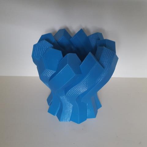 Capture d'écran 2017-06-13 à 09.58.55.png Download free STL file Twisted Hexagon Colum pot/vase 2 • 3D printer model, Job