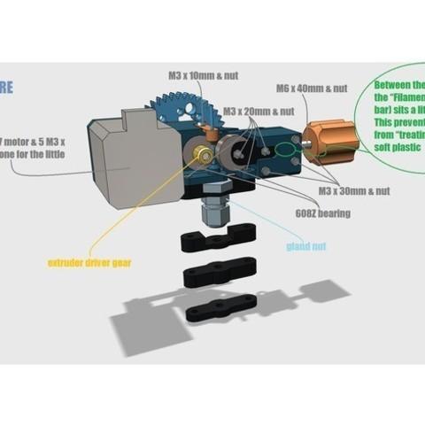 94019c6c156a1053f20fe0fbde64b6d2_preview_featured.jpg Télécharger fichier STL gratuit Extrudeuse à engrenages • Modèle pour impression 3D, Job