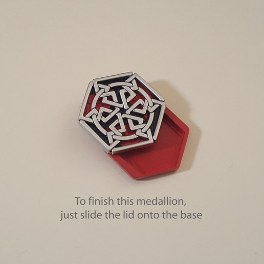medallion parts and assembly6.jpg Download free STL file Secret geometry medallion • 3D printable model, Job