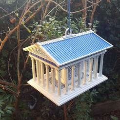 Greek Temple Bird House18.jpg Télécharger fichier STL Maison des oiseaux le temple grec • Plan imprimable en 3D, Job