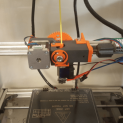 Download free STL file Geared Extruder using M8 extruder driver • 3D printable template, Job