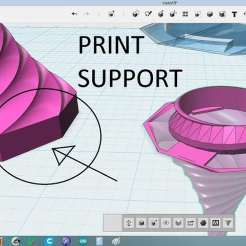Capture d'écran 2017-05-29 à 09.58.41.png Download free STL file Spiral LED Lamp • 3D print template, Job