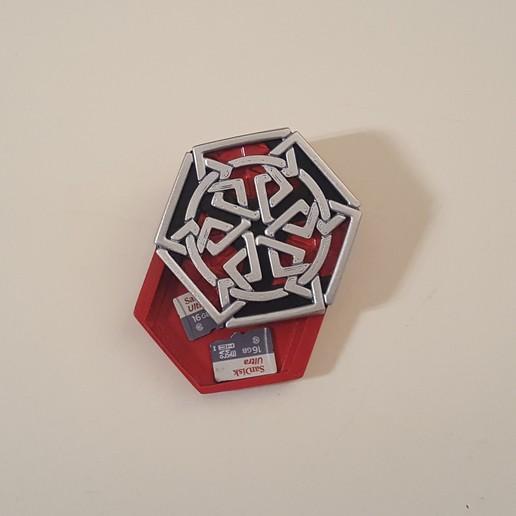 medallion with SD card1.jpg Download free STL file Secret geometry medallion • 3D printable model, Job