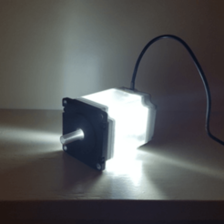 Capture d'écran 2018-04-25 à 10.19.09.png Download free STL file Nema 23 Stepper Motor Lamp • 3D printer object, Job