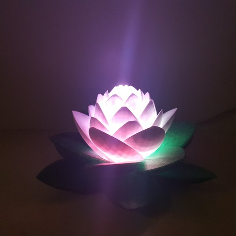 Download free STL Lotus Lamp #POLYMAKERCHALLENGE , Job