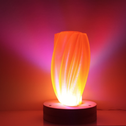 Download free STL Cloud lamp / Vase, Job