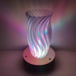 Free stl file Wave Lamp, Job