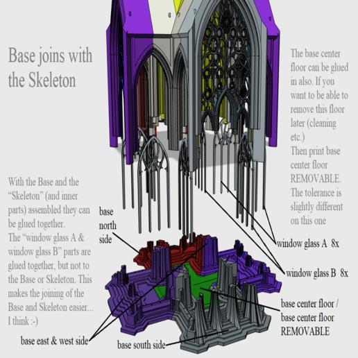 06 base joins with the skeleton.png Télécharger fichier STL Cathédrale des oiseaux • Objet imprimable en 3D, Job