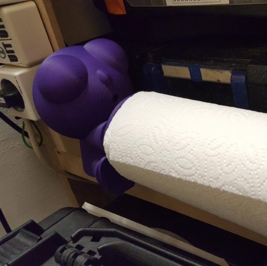 Capture d'écran 2017-10-03 à 16.10.02.png Download free STL file Paper towel man • Object to 3D print, Job