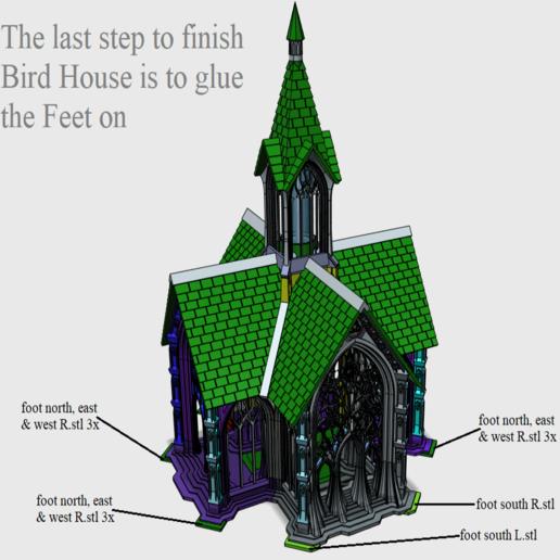 12 Finished.png Télécharger fichier STL Cathédrale des oiseaux • Objet imprimable en 3D, Job
