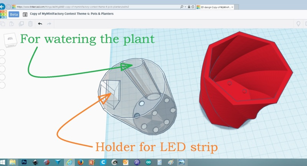 Capture d'écran 2017-06-08 à 10.39.58.png Download free STL file Shadow casting plant pot • 3D printing object, Job