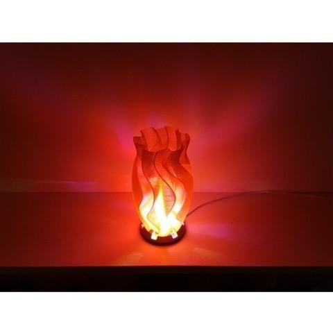 Télécharger STL gratuit Lampe qui coule, Job