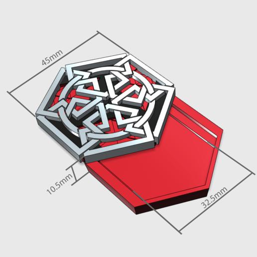 medalion3.png Download free STL file Secret geometry medallion • 3D printable model, Job