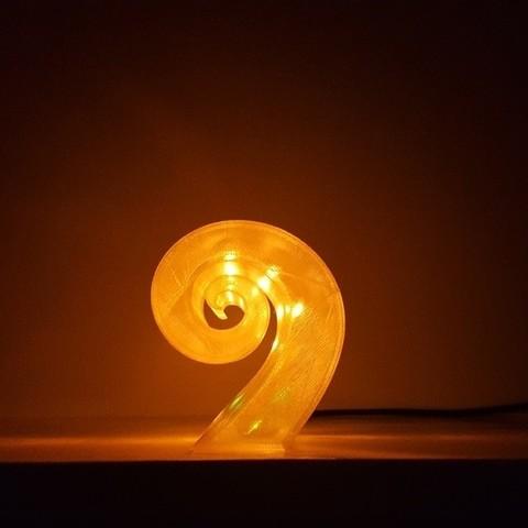Fichier STL gratuit Nr 9 Lampe, Job