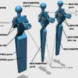 multigripper.png Download STL file Universal Arm • 3D printable template, Job