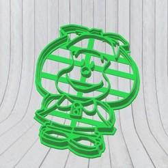 Impresiones 3D Mafalda Cookie Cutter, cortante, molde repostería., adr-1