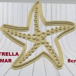 Download 3D printer templates Starfish cookie cutter cookie cutter mold cookies, adr-1