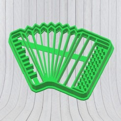 STL files Accordion Cookie Cutter, Cookies Cutter, Mould, adr-1