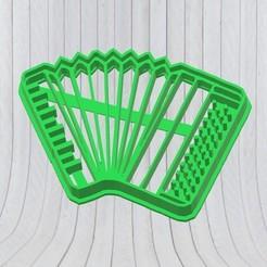Descargar diseños 3D Acordeón Cookie Cutter, Cortante de Galletitas, Molde, adr-1