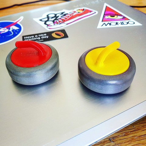 Download free STL Mini Curling Stones, Code10100