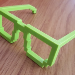 Free 3d print files 8-bit Glasses, Code10100
