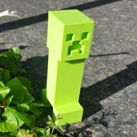 Download free 3D printer templates Minecraft Creeper, Code10100