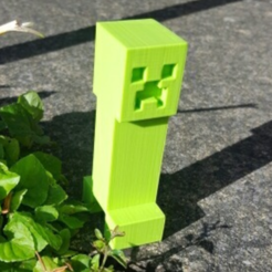 Download free 3D printer templates Minecraft Creeper, Code10100