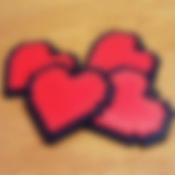 Download free STL file 8-bit Heart Keyring, Code10100