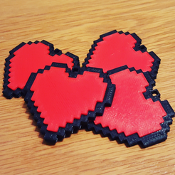 Download free STL file 8-bit Heart Keyring, Code10100